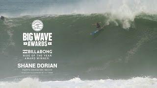 getlinkyoutube.com-Shane Dorian's Billabong Ride of the Year Winner - WSL Big Wave Awards 2015