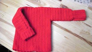 getlinkyoutube.com-Sweater pullover lefty crochet tutorial