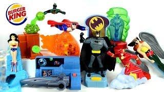 getlinkyoutube.com-Justice League Burger King 2003 Toys Complete Set Superman Batman Wonder Woman