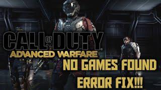 getlinkyoutube.com-Call of Duty: Advanced Warfare No Games Found Fix (LEGIT, NOT JUST ROUTER RESET!!!)