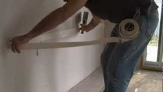 getlinkyoutube.com-How to use a compound tube to tape drywall flat and angle joints.