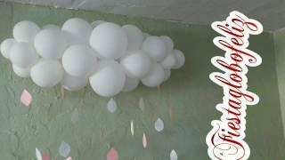 getlinkyoutube.com-Como hacer una nube con globos para baby shower