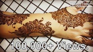 Full Hand Arabic Henna   Arabic Dubai Henna design  Step by step  Khaleeji Henna Designer