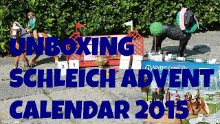 getlinkyoutube.com-SCHLEICH ADVENT CALENDAR 2015 UNBOXING | horzielover