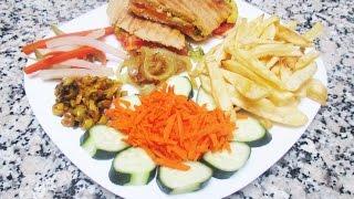 getlinkyoutube.com-Panini / Sandwich de poulet  بانيني \سندويش بالدجاج اللذيذ والسريع