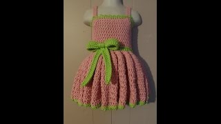 getlinkyoutube.com-CROCHET How to #Crochet 18-24 months Girls Special Occasion Dress #TUTORIAL #235