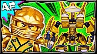 getlinkyoutube.com-Lloyd's New GOLD MECH - Custom Lego Ninjago Stop Motion Review 70503 70505