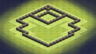 getlinkyoutube.com-Clash of Clans - TH4 Hybrid Base (Shield)
