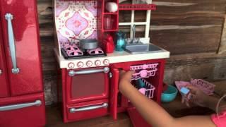 getlinkyoutube.com-American Girl Doll Kitchen Haul