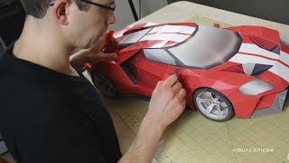 getlinkyoutube.com-Building the 2016 Ford GT Inspired GT Legend Paper Supercraft