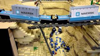 getlinkyoutube.com-Lego train -  Maersk and the canyon StRambert 2011