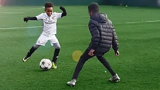 getlinkyoutube.com-7 Year Old Kid Shows Ronaldo Skills - Tutorial for Kids