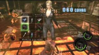 getlinkyoutube.com-Prison : 966,202 Duo Jill Battle suit/Wesker Midnight - Resident Evil 5 - The Mercenaries