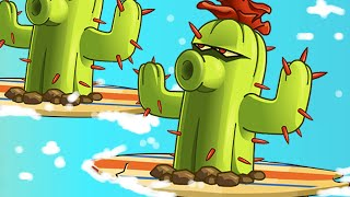 getlinkyoutube.com-Plants vs. Zombies 2 - Big Wave Cactus!