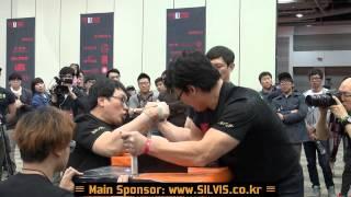 getlinkyoutube.com-[팔씨름] [+80kg, Finals] Korean National Armwrestling Championships (by SILVIS)