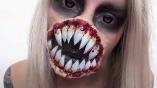 getlinkyoutube.com-Alien Halloween Makeup Tutorial | Xenomorph Inspired