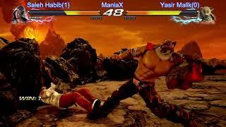 Tekken 7 Saleh Habib(Steve) vs Yasir Malik(King) ManiaX Fighters cup s2