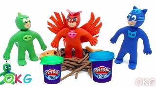 getlinkyoutube.com-Funny Making PJ Masks Episodes Animation Play Doh Disney Superhero Stopmotion Videos