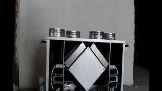 Установка рекуператора воздуха
