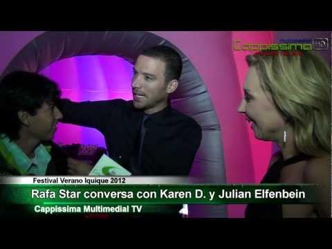 Rafa Star en exclusiva junto a karen y Julian Elfenbein. Festival Verano Iquique 2012