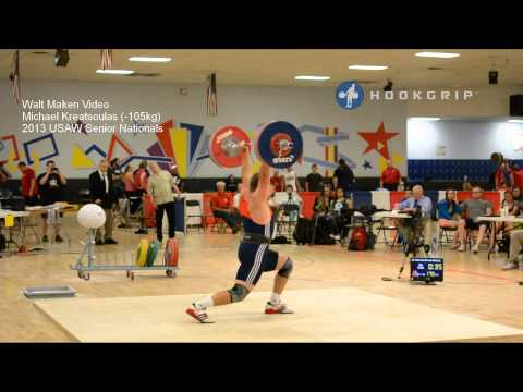 Michael Kreatsoulas (-105kg) 2013 Senior Nationals Attempts