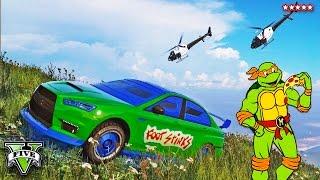 getlinkyoutube.com-GTA 5 Teenage Mutant Ninja Turtles - TMNT EPIC PRISON BREAK & COP CHASE!! (GTA 5 Funny Moments)
