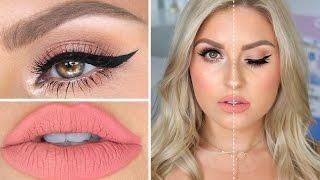 getlinkyoutube.com-High End VS Drugstore Makeup! ♡ Full Face Dupes Makeup Tutorial