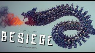 getlinkyoutube.com-FLYING DRAGON SNAKE! | Besiege #59 | Player Creations!