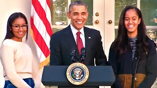 getlinkyoutube.com-Obama Jokes With Daughters...And A Turkey