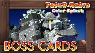 getlinkyoutube.com-Paper Mario Color Splash - All Boss Cards (Koopalings, Kamek & Bowser's Castle)