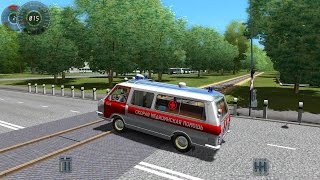 getlinkyoutube.com-City Car Driving 1.3.3 RAF-2203 Ambulance [1080p]