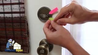 ComfortSpec Home Inspection Improperly Installed Deadbolts