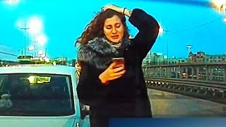 getlinkyoutube.com-Woman Car Crashes Compilation, Women Driving Fail and accidents # 26