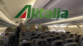 getlinkyoutube.com-TRIP REPORT | Alitalia [NEW CABIN] Classica Economy | A330-200 | FCO-AUH