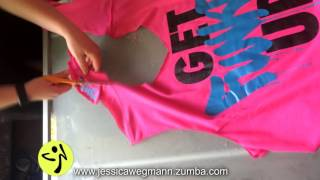 getlinkyoutube.com-Zumba T shirt Cut by Jessica Wegmann
