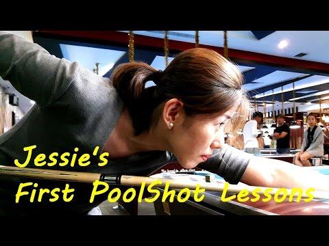 Jessie's First PoolShot Lessons & Trickshots - Pool & Billiard Training by PoolShot.org