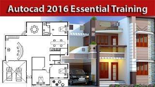 getlinkyoutube.com-AutoCAD Complete 2d and 3d House Plan Part 1