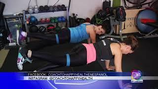 Catalina Quintero nos muestra que ejercicios podemos hacer desde casa para estar en forma