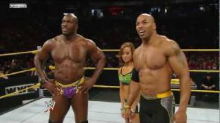 getlinkyoutube.com-WWE NXT 11/02/11 | A.J., Percy Watson & Titus O'Neil vs. Maxine, Derrick Bateman & JTG