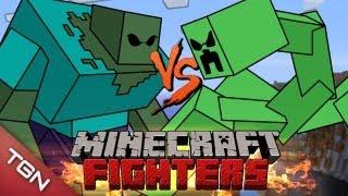 getlinkyoutube.com-MINECRAFT FIGHTERS: MUTANT ZOMBIE VS MUTANT CREEPERS  G1