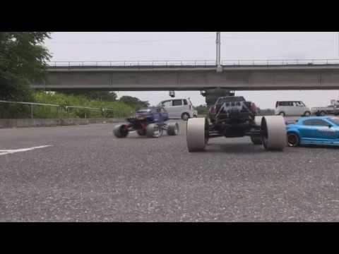 Hpi Savage Xl And Traxxas Summit Drifting!