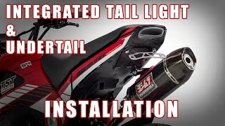 getlinkyoutube.com-How to install Integrated Tail Light & Undertail on a Honda Grom by TST Industries