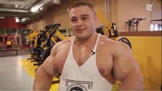 Russian muscle , IFBB Pro bodybuilder Alexey Lesukov training