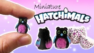 getlinkyoutube.com-Miniature Hatchimals Tutorial // DIY Dolls/Dollhouse Bearakeet
