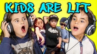 getlinkyoutube.com-KIDS REACT TO KIDS ARE LIT DANCE COMPILATION