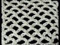 Crochet : Punto Red en forma Lineal