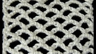 getlinkyoutube.com-Crochet : Punto Red en forma Lineal