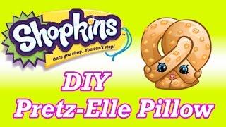 getlinkyoutube.com-DIY SHOPKINS Pretz-Elle Pretzel No Sew Pillow How To Make Tutorial