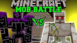 MUTANT IRON GOLEM VS ROBO POUNDER - Minecraft Mob Battles - Better Dungeons OreSpawn Mods
