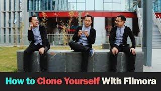getlinkyoutube.com-How to Clone Yourself with Filmora |Tutorial